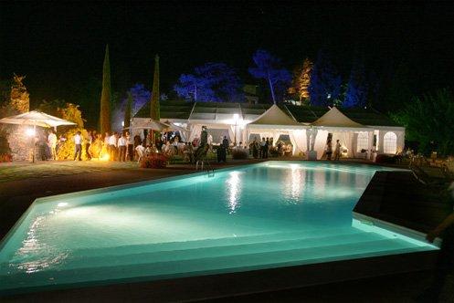 Castellaro piscina notte